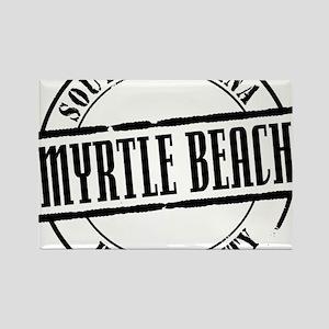 Myrtle Beach Title Rectangle Magnet