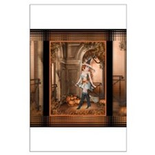 Beautiful Fall Witch 1 Large Poster