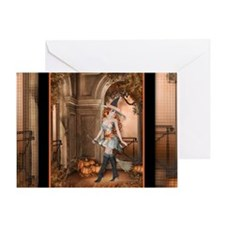Beautiful Fall Witch 1 Greeting Card