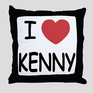 I heart KENNY Throw Pillow