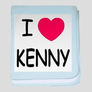 I heart KENNY baby blanket