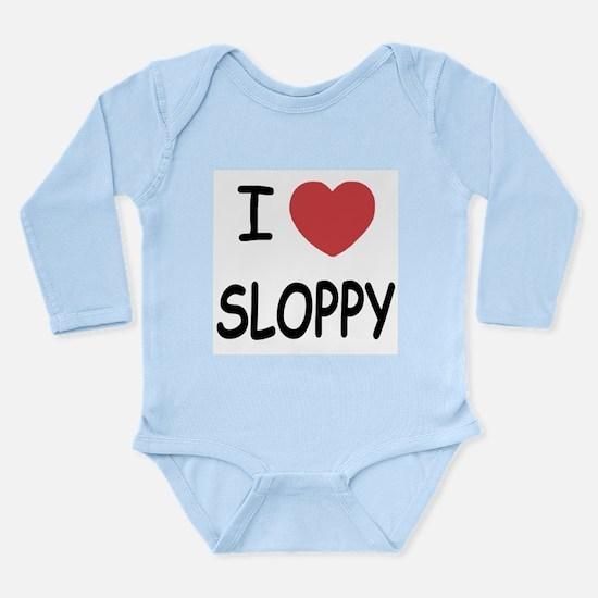 I heart SLOPPY Long Sleeve Infant Bodysuit