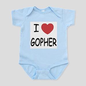 I heart GOPHER Infant Bodysuit