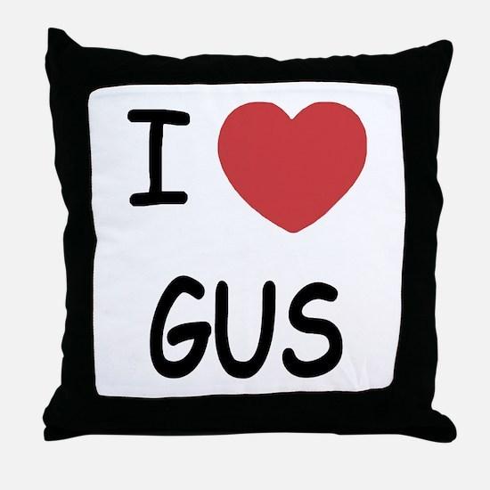 I heart GUS Throw Pillow