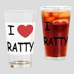 I heart RATTY Drinking Glass