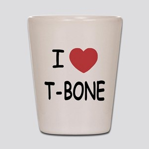 I heart T-BONE Shot Glass