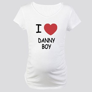 I heart DANNY BOY Maternity T-Shirt