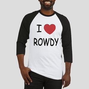 I heart ROWDY Baseball Jersey