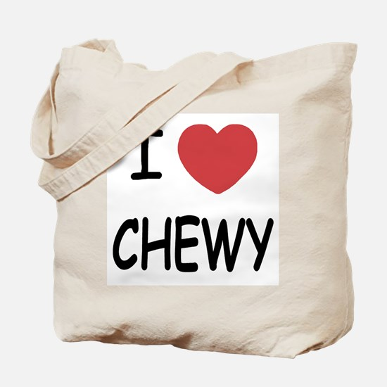 I heart CHEWY Tote Bag