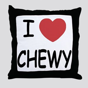 I heart CHEWY Throw Pillow