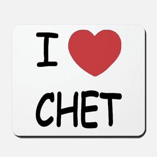 I heart CHET Mousepad