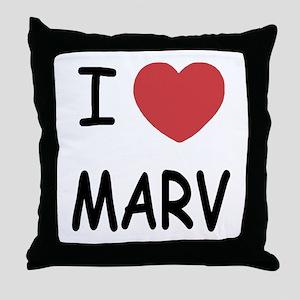I heart MARV Throw Pillow