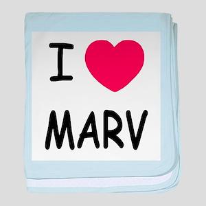 I heart MARV baby blanket