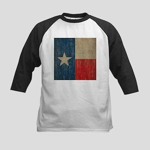 Vintage Texas Flag Kids Baseball Jersey