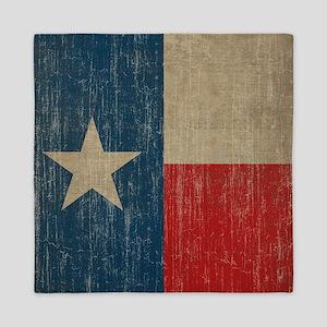 Vintage Texas Flag Queen Duvet