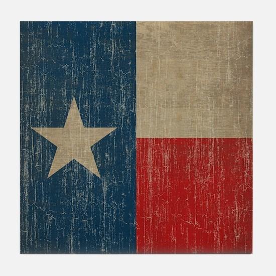 Vintage Texas Flag Tile Coaster