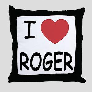 I heart ROGER Throw Pillow