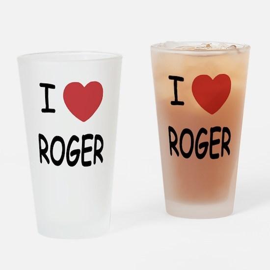 I heart ROGER Drinking Glass