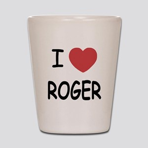 I heart ROGER Shot Glass