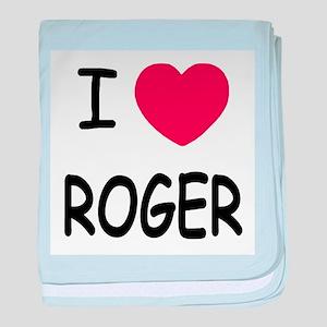 I heart ROGER baby blanket