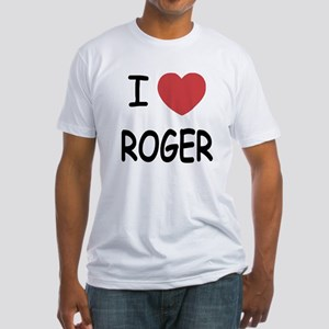 I heart ROGER Fitted T-Shirt