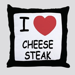 I heart cheesesteak Throw Pillow