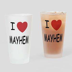 I heart mayhem Drinking Glass