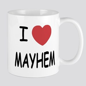 I heart mayhem Mug