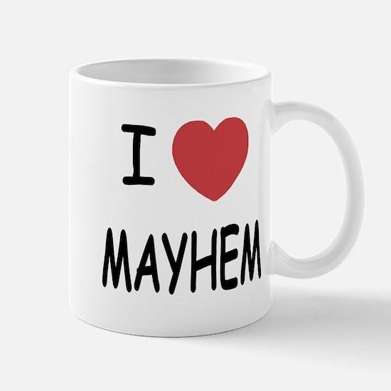 I heart mayhem Mug