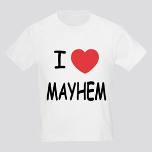 I heart mayhem Kids Light T-Shirt