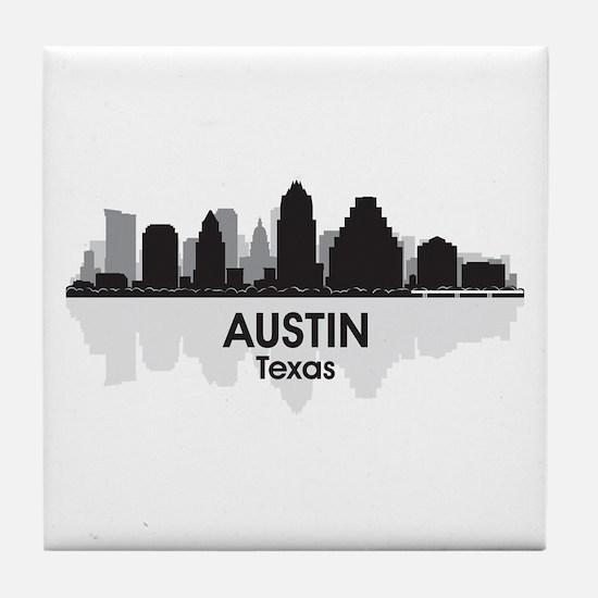 Austin Texas Skyline Tile Coaster