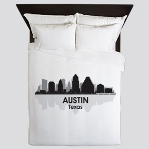 Austin Texas Skyline Queen Duvet