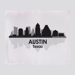 Austin Texas Skyline Throw Blanket