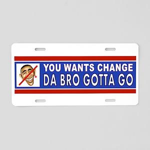 ANTI-OBAMA BUMPER Aluminum License Plate