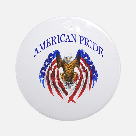 American Pride Eagle Ornament (Round)