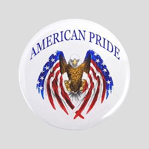 """American Pride Eagle 3.5"""" Button"""
