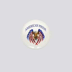 American Pride Eagle Mini Button