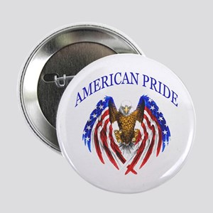 """American Pride Eagle 2.25"""" Button"""