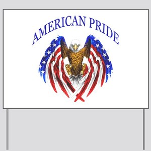 American Pride Eagle Yard Sign