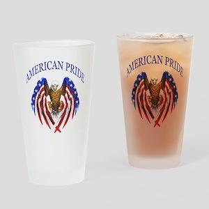 American Pride Eagle Drinking Glass