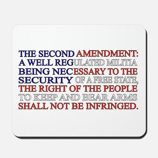 Second Amendment Flag Mousepad