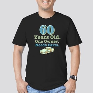 Needs Parts 60th Birthday Men's Fitted T-Shirt Dk