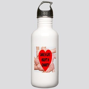 Save A Life Adopt A Charity Stainless Water Bottle
