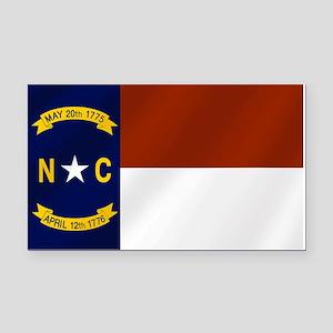 North Carolina Flag Rectangle Car Magnet