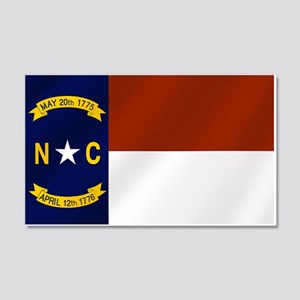 North Carolina Flag 20x12 Wall Decal