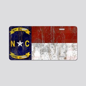 North Carolina Retro Flag Aluminum License Plate