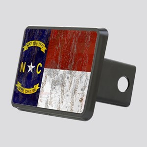 North Carolina Retro Flag Rectangular Hitch Cover