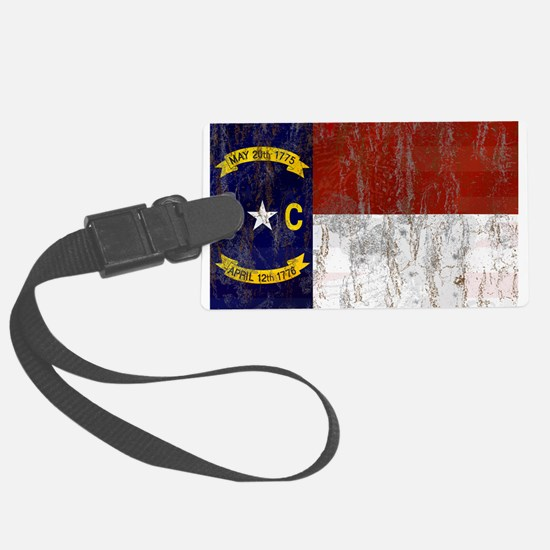 North Carolina Retro Flag Luggage Tag