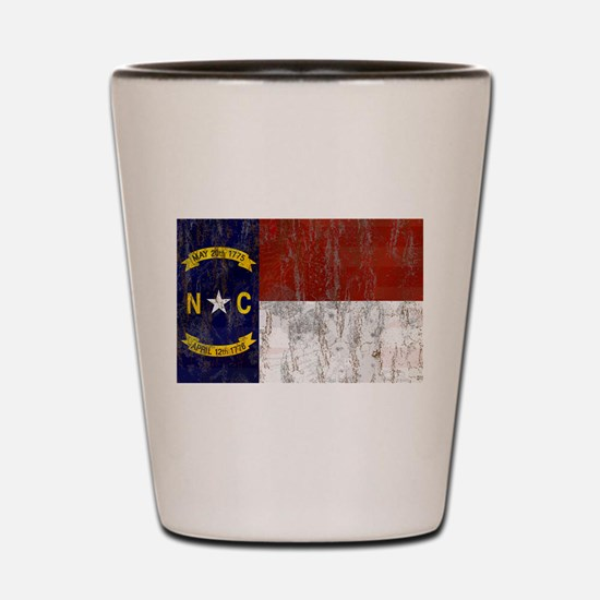 North Carolina Retro Flag Shot Glass