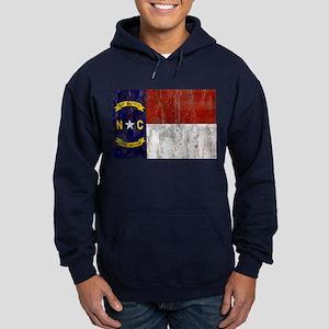 North Carolina Retro Flag Hoodie (dark)